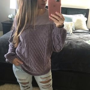 Fuzz and Chenille Pullover Sweater